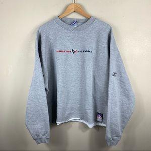 Vintage Gray Reebok 90's Cropped Crewneck Pullover
